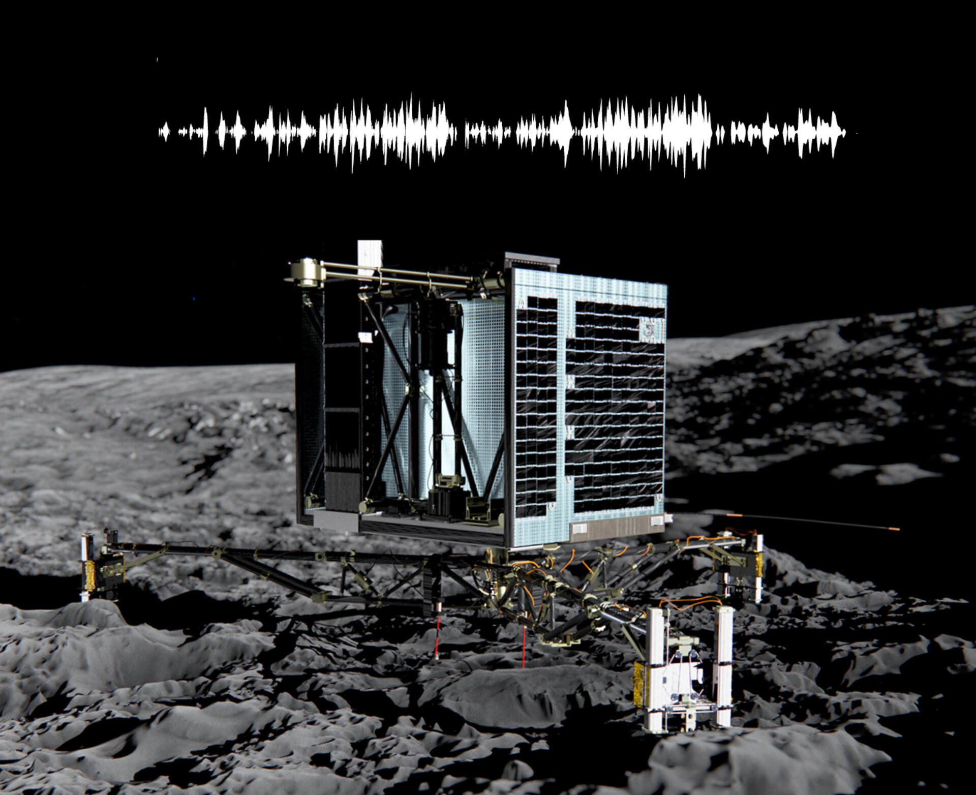 The sound of Philae hammering