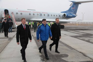 Tim arrives in Baikonur