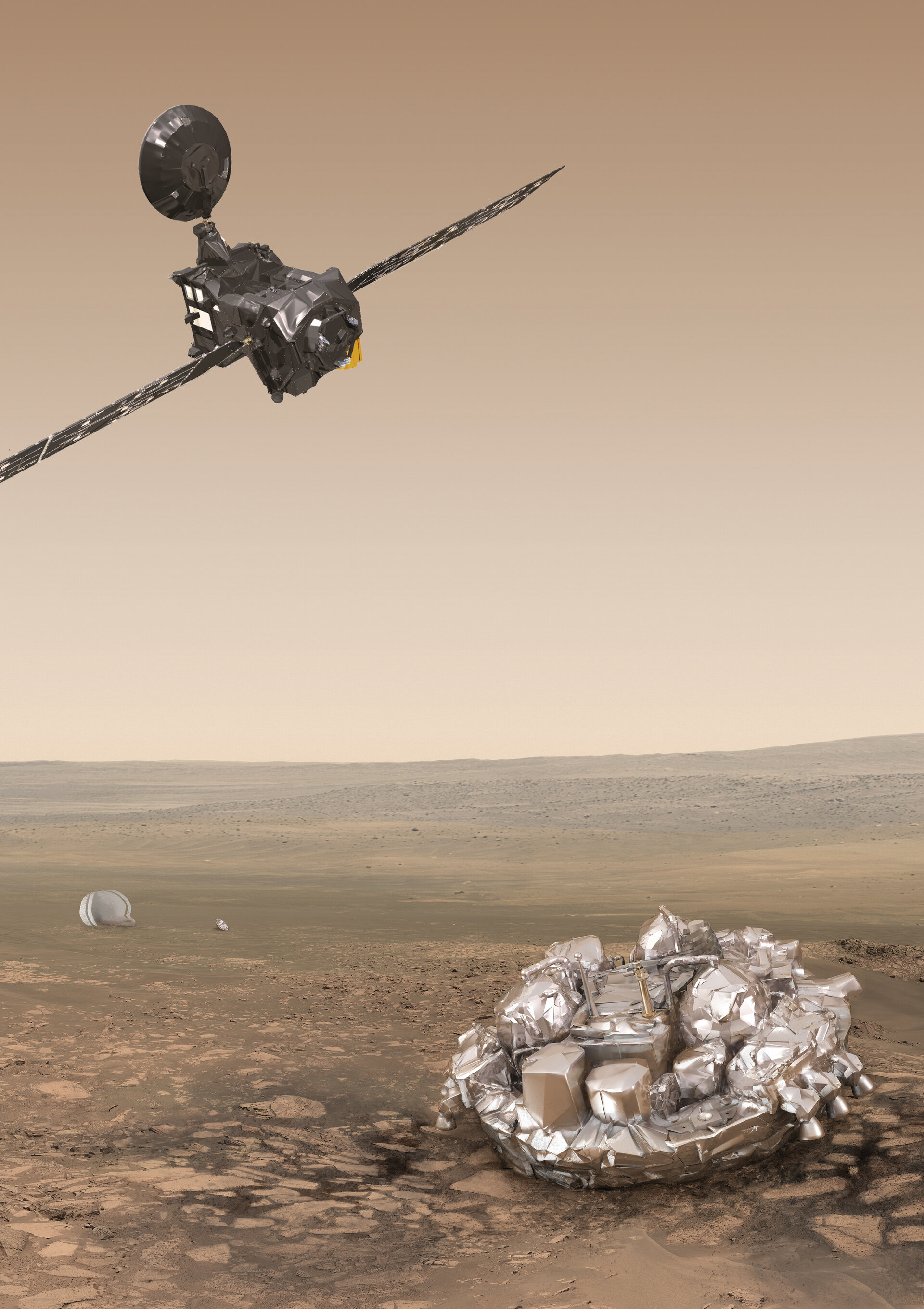 Trace Gas Orbiter and Schiaparelli at Mars