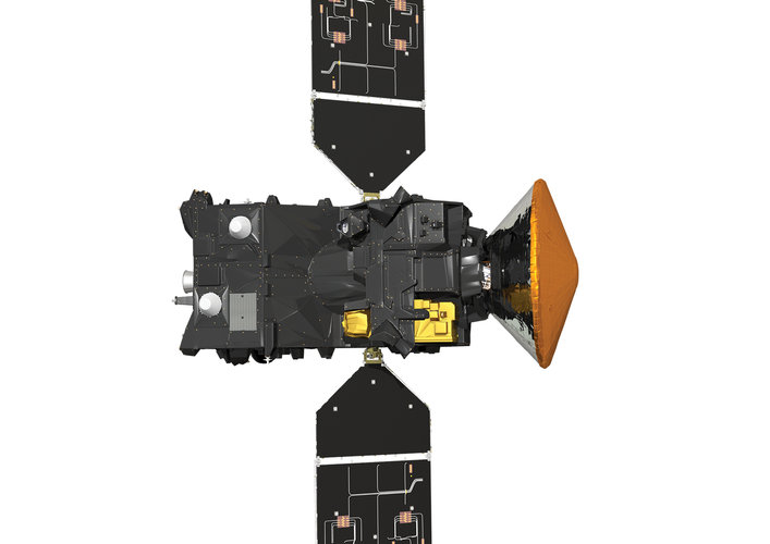 Trace Gas Orbiter instrument view (with Schiaparelli)