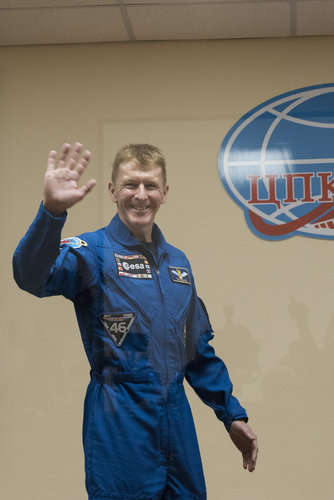 ESA astronaut Tim Peake during the pre-launch press conference