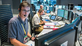 LISA Pathfinder spacecraft operations manager Ian Harrsion seen in the Main Control Room at ESOC during launch on 3 December 2015.