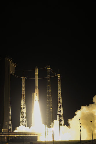 Liftoff of Vega VV06 carrying LISA Pathfinder