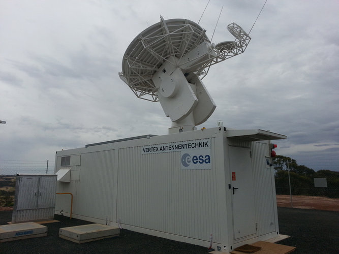 4.5m satellite acquisition antenna, New Norcia, Australia