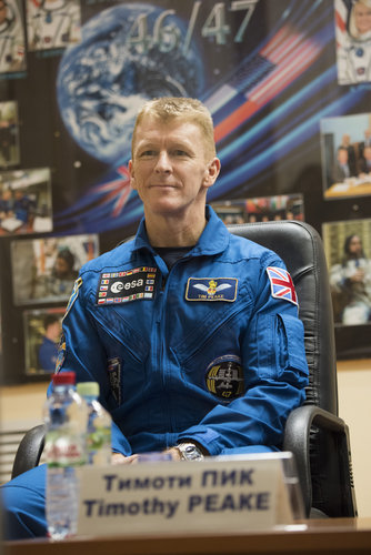 Tim Peake during the pre-launch press conference
