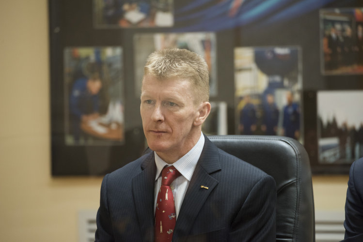 Tim Peake during the State Commission meeting to approve the Soyuz launch