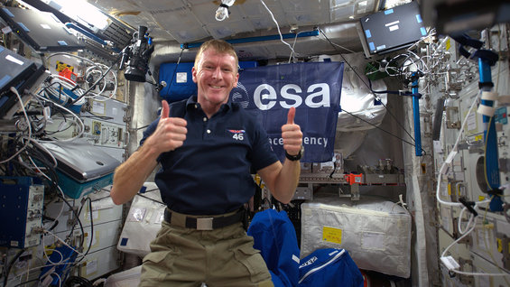Tim Peake Live from ISS