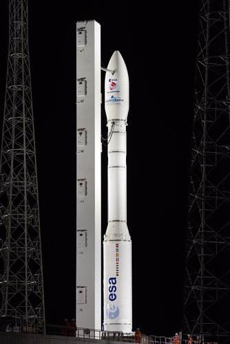 Vega VV06, carrying LISA Pathfinder, ready for launch