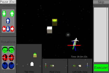 Astronaut test screenshot