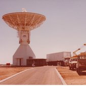 A 15 m-diameter tracking station was installed first at the then-existing Carnarvon, Western Australia, facility in July 1985 to help support Giotto, ESA's first deep-space mission, which encountered Comet Halley in 1986.