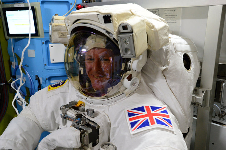 Tim Peake spacesuit check