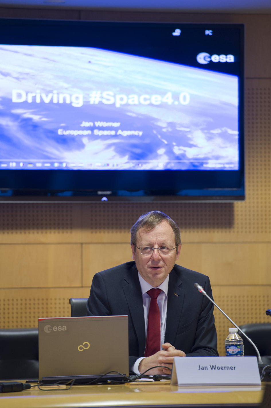 Jan Woerner during the annual press briefing on 15 January 2016