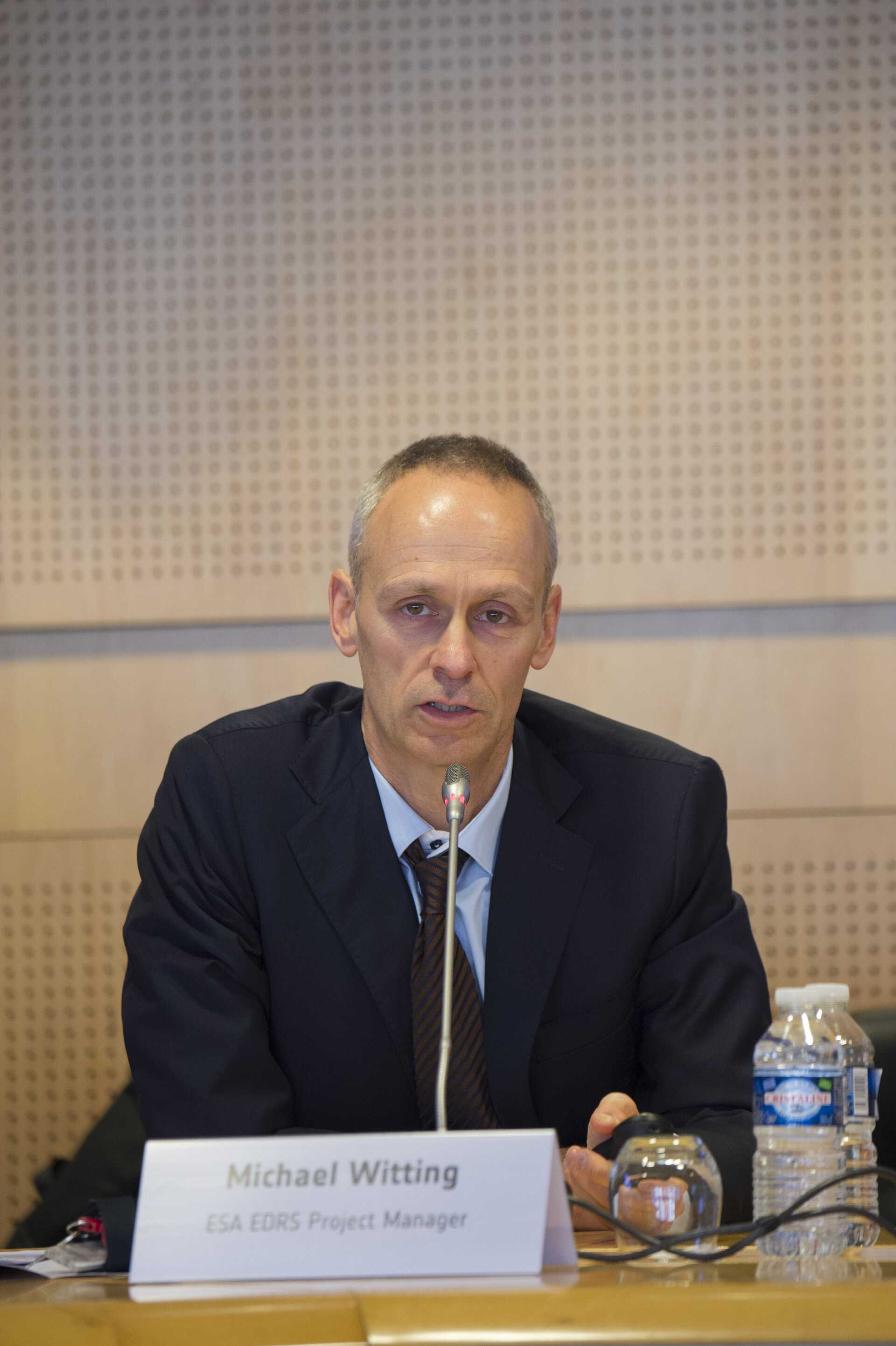 Michael Witting at the EDRS press briefing on 15 January 2016