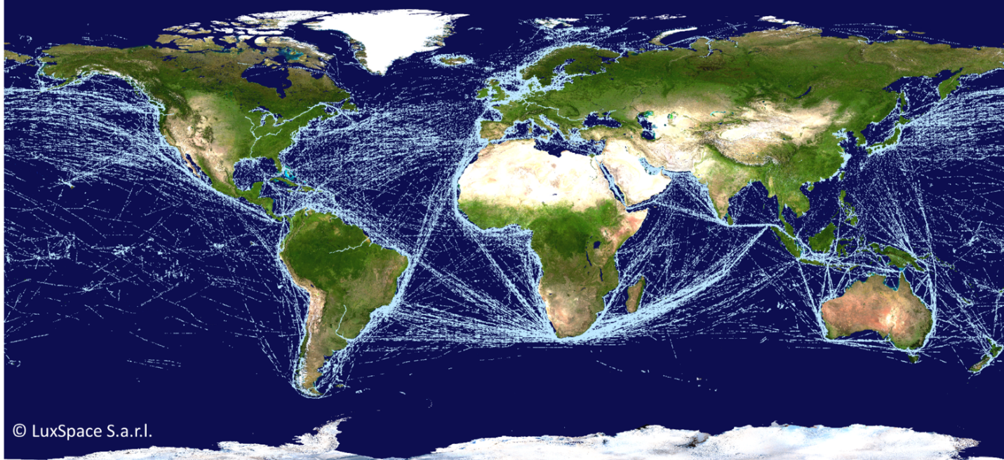 Space in images 2016 01 satellite ais based map of global ship map of global ship traffic 158 mb gumiabroncs Gallery