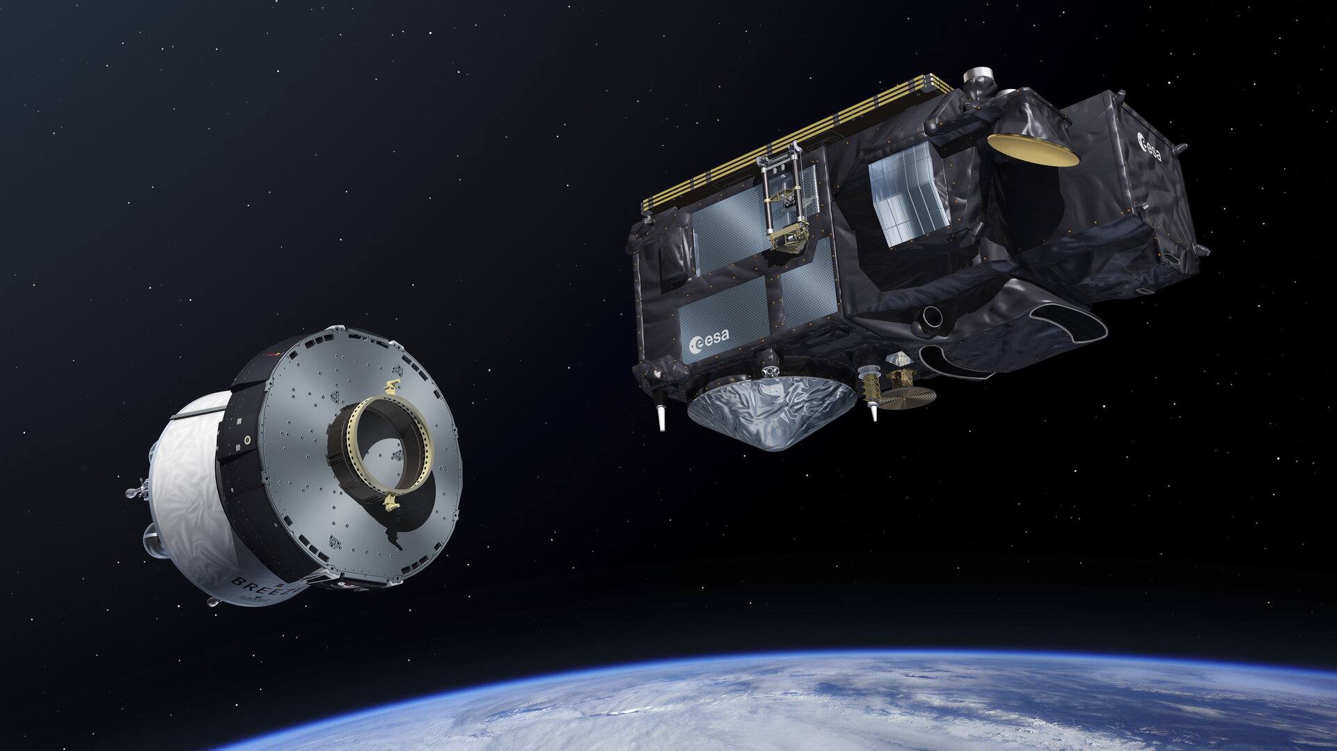 Sentinel-3 separation in space