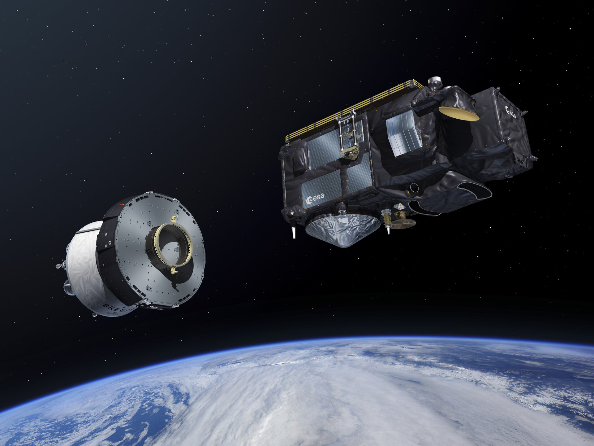 Sentinel-3 is ejected from the Breeze upper stage