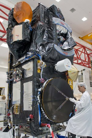 Sentinel-3A in the cleanroom