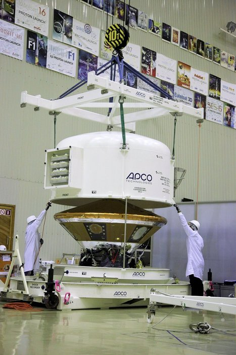 The ExoMars 2016 Schiaparelli module in Baikonur