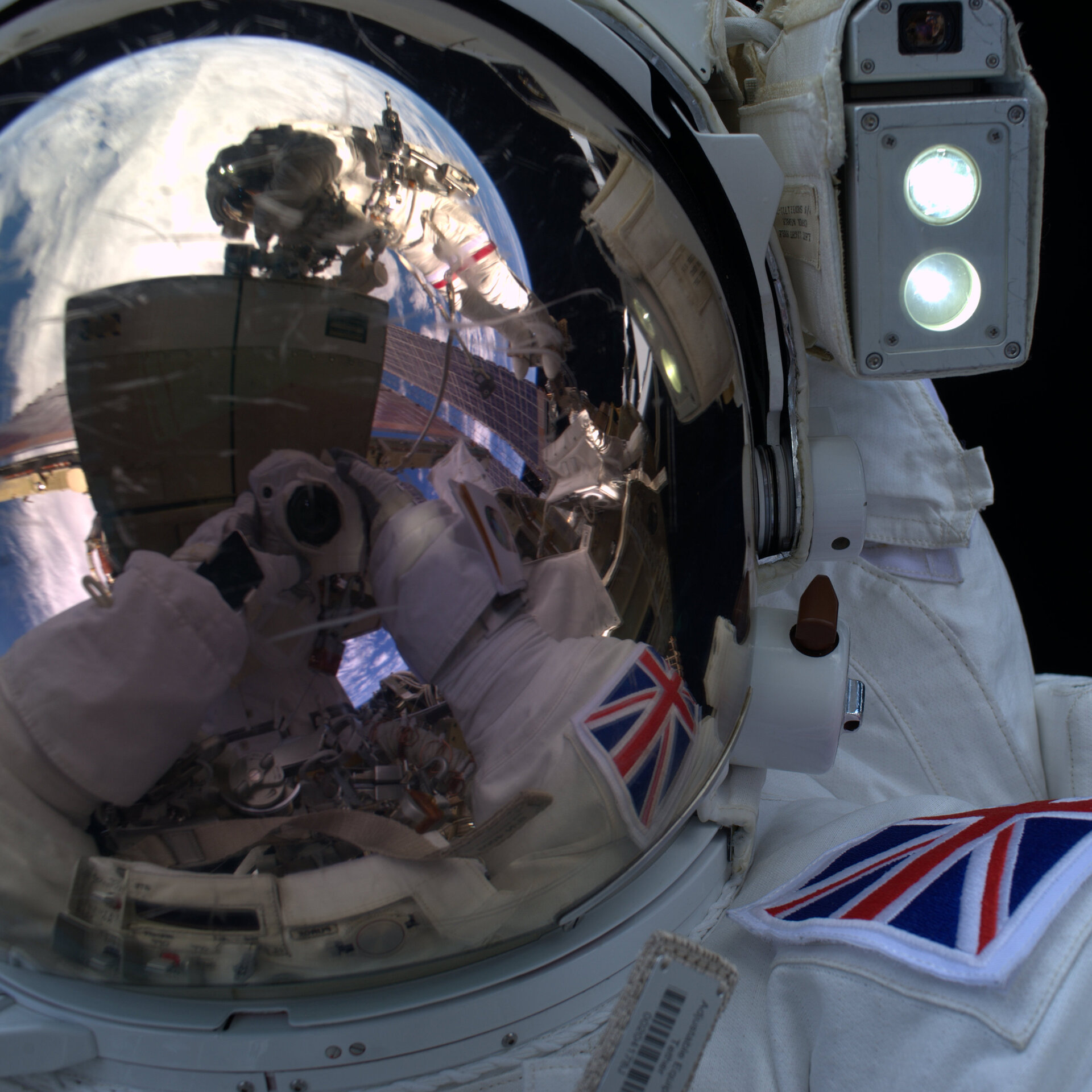 Tim's spacewalk selfie