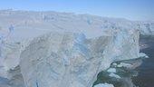 Antarctic ice safety band at