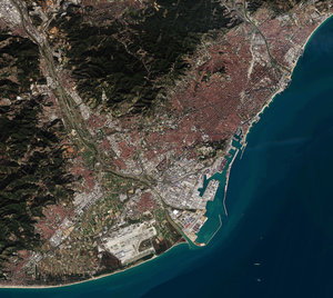 Barcelona from Sentinel-2A