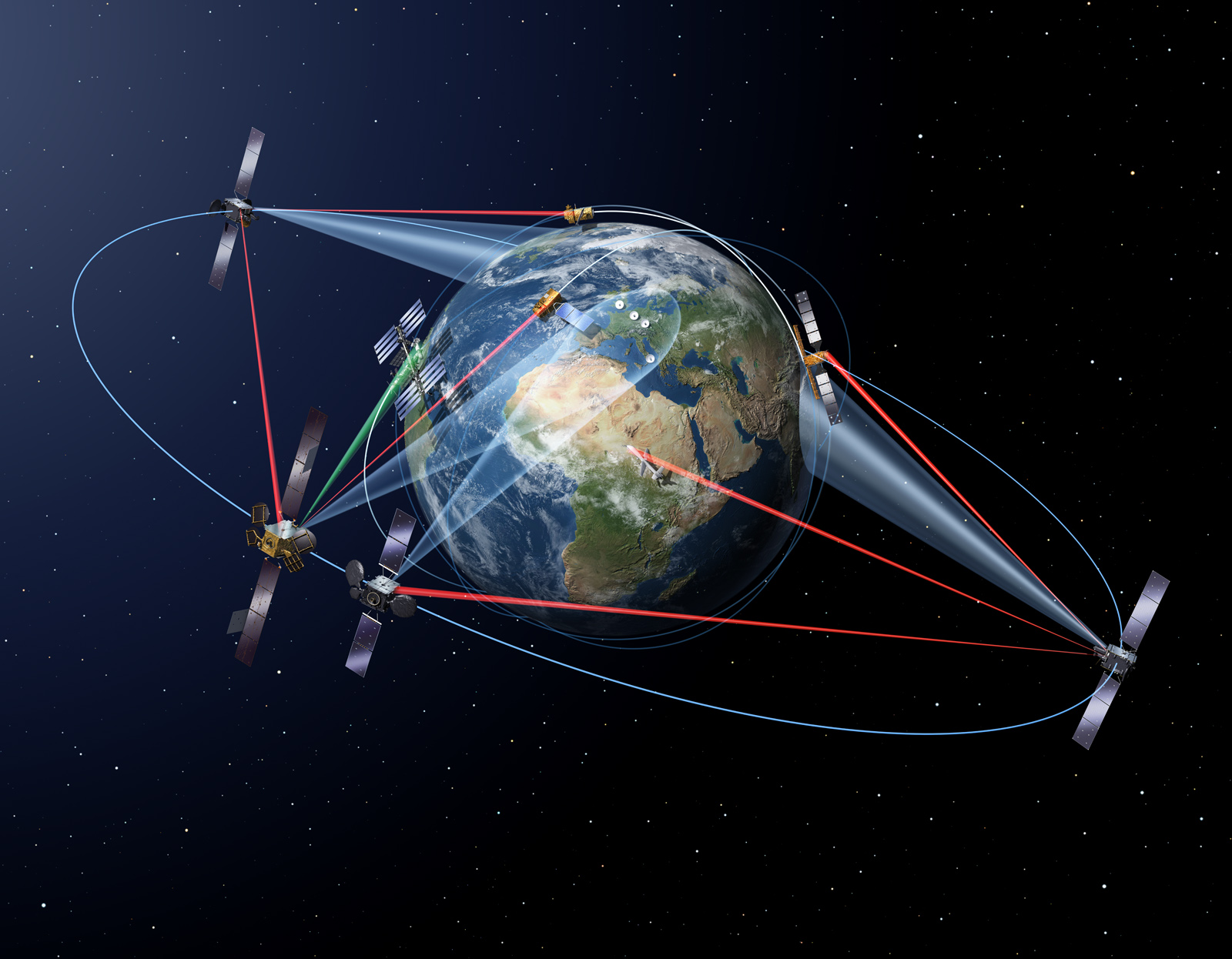 Space in images 2016 02 inter satellite laser links for Images of space craft