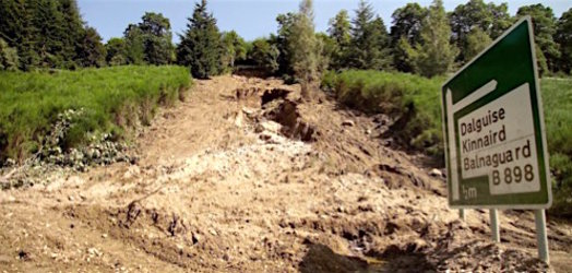 Landslides threaten transport networks