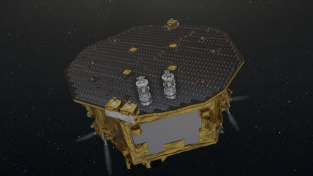LISA Pathfinder operating in space