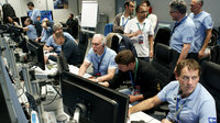 Some of the Sentinel-3 project team working at ESOC during launch on 16 February 2016