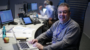Flight director Pier Paolo Emanuelli serves as flight director for all the Sentinel missions controlled from ESOC
