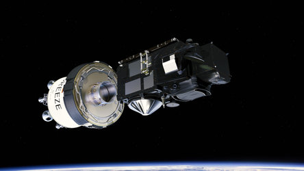 Sentinel-3A separation from Breeze upper stage