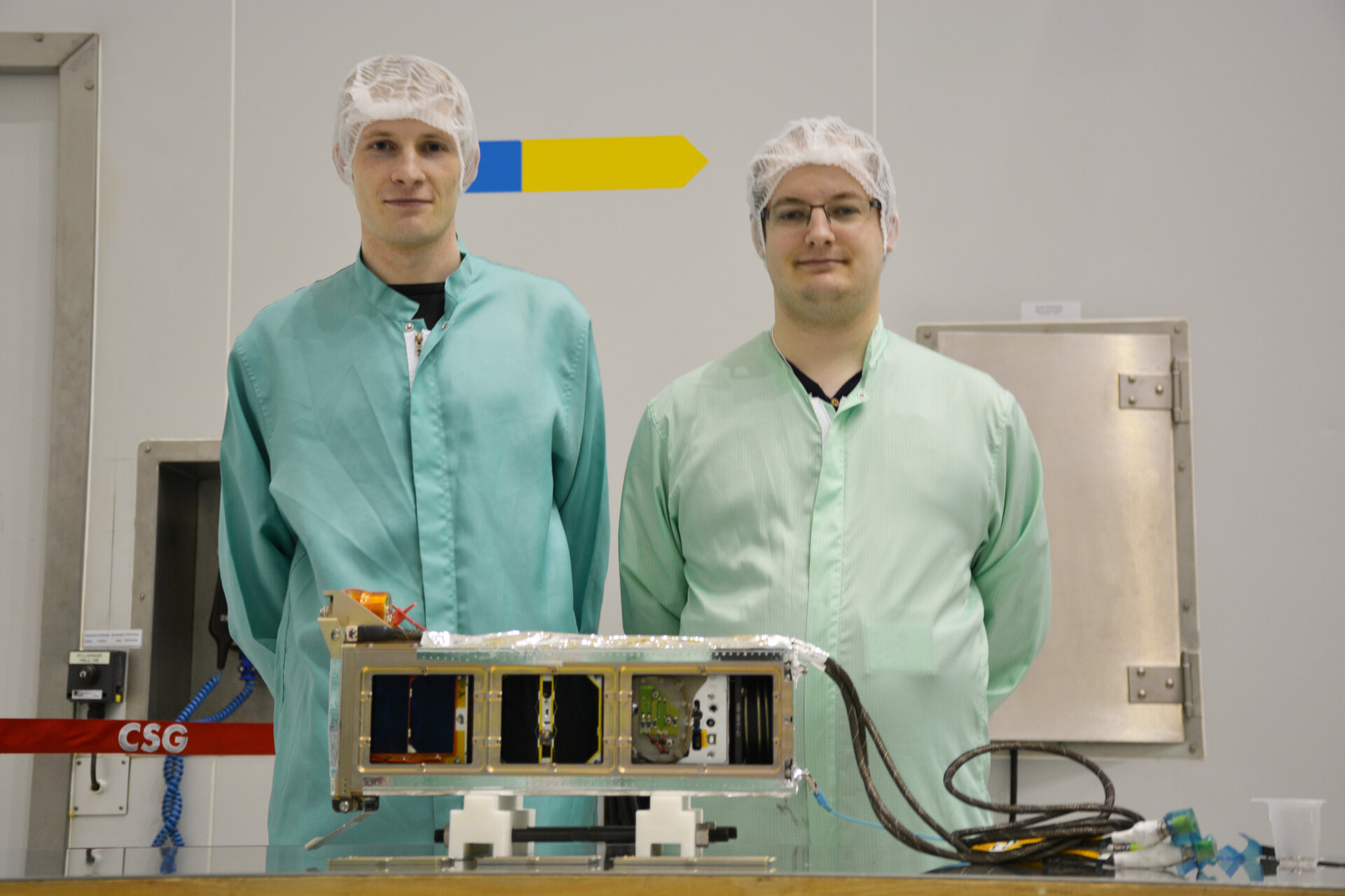 AAUSAT4 team with P-POD