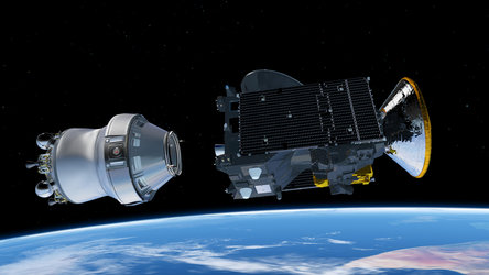 ExoMars 2016 fourth stage separation