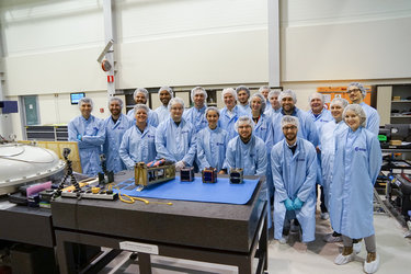 Happy faces - FYS! 2016 CubeSat teams ready for integration!