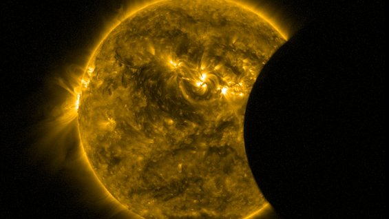 Proba-2's partial eclipse