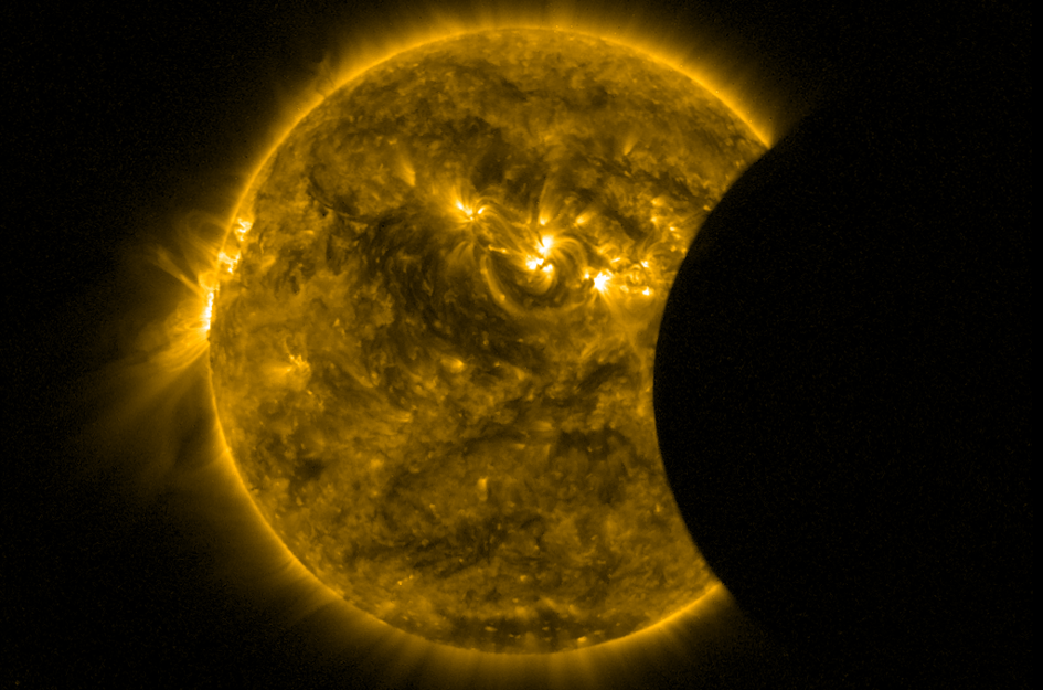 Proba-2 view of 8-9 March partial solar eclipse