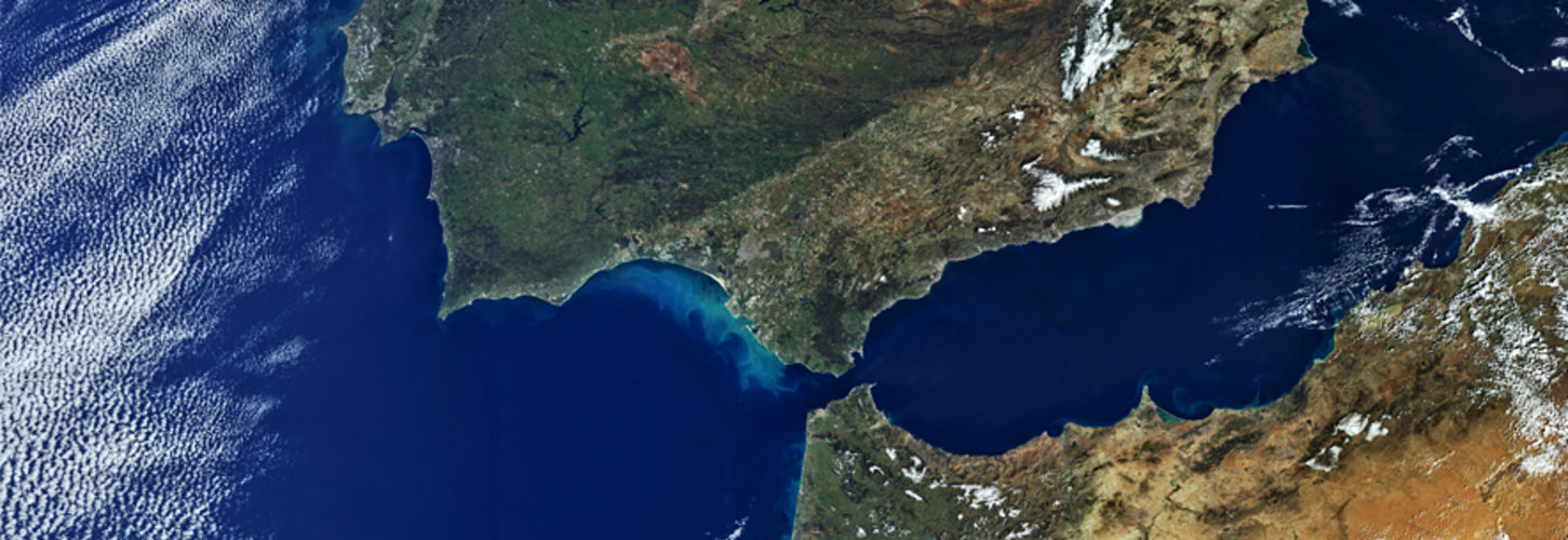 Strait of Gibraltar from Sentinel-3A