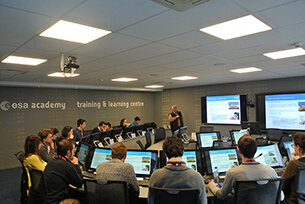 Students in the ESA Academy Training & Learning Centre