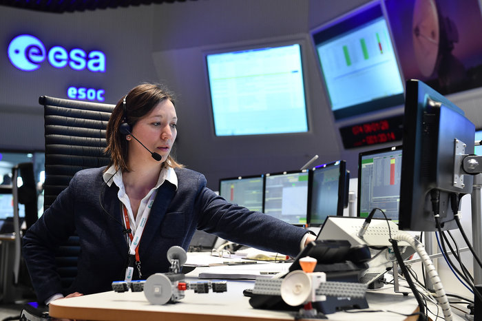 On 14 March 2016, a 'team of teams' at ESOC, ESA's operations centre in Darmstadt, Germany, assumed control of humanity's next mission to the Red Planet