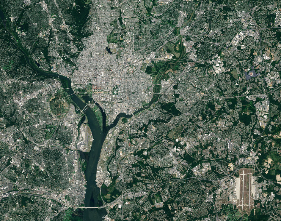 Washington DC, as seen by Sentinel-2A