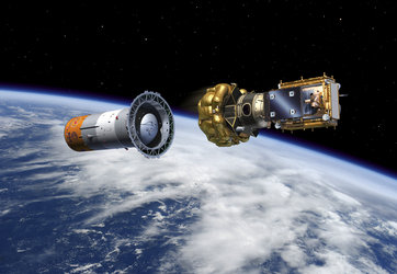 Artist's impression of the Fregat separation