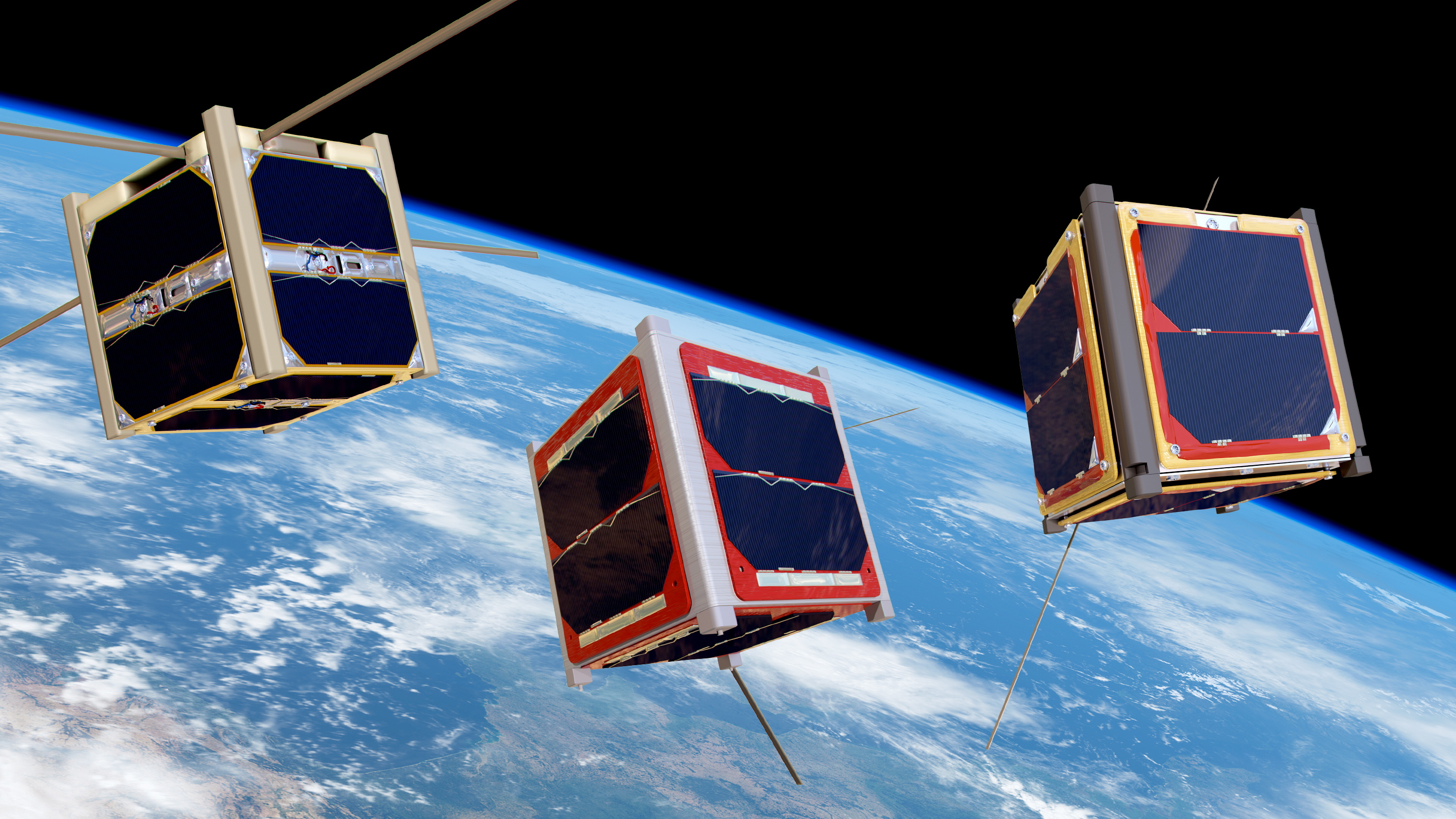 Space in images 2016 04 cubesats orbiting earth for What is space design