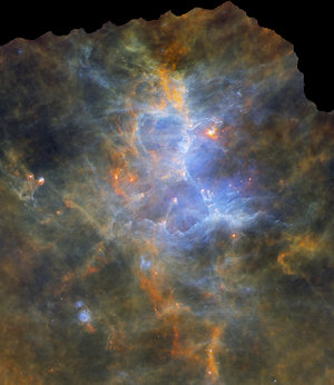 Herschel's view of the Eagle Nebula