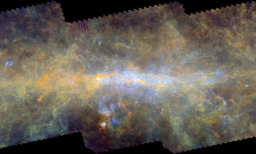 Herschel's view of the Galactic Centre