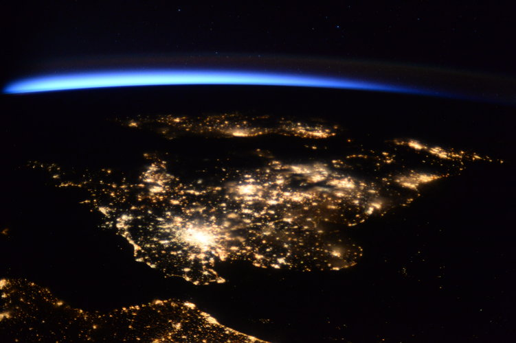 UK at night