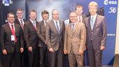 """Neuer ESA-Direktor für Galileo, Paul Verhoef, und Hessens Innenminister Peter Beuth eröffnen Konferenz """"Global Navigation meets Geoinformation"""""""
