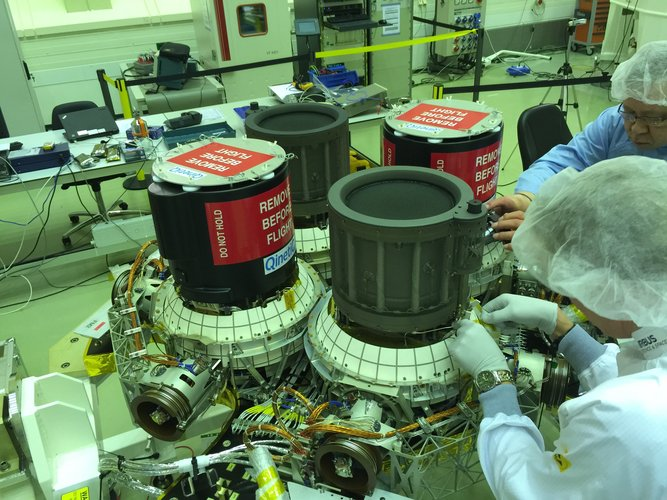 T6 ion thrusters installed on BepiColombo