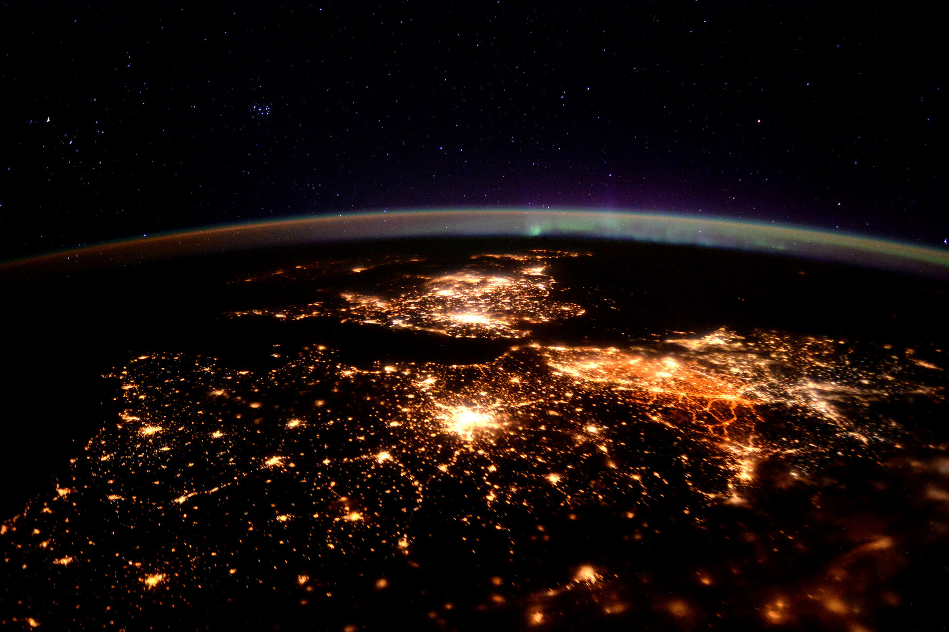 France seen at night from the International Space Station
