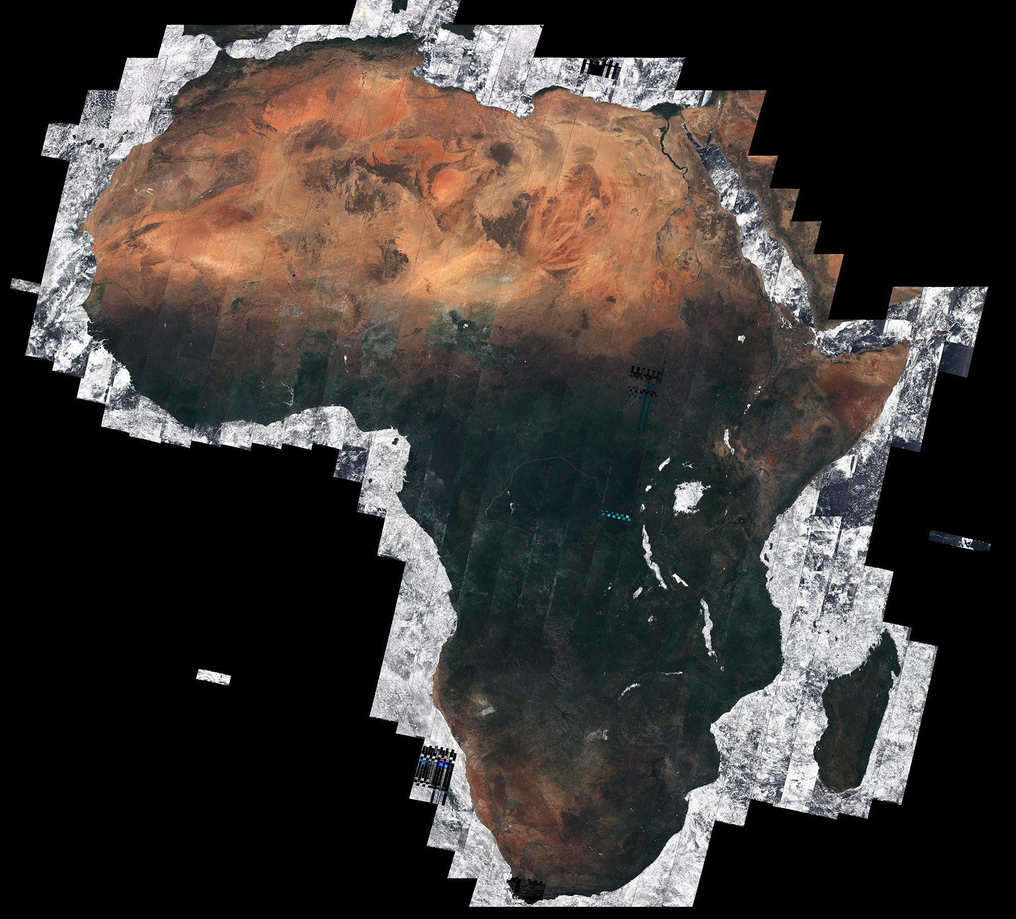 africa map from space