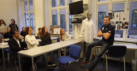 Andreas meets fashion students